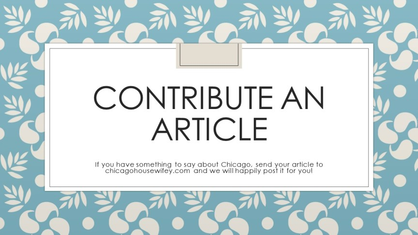 Contribute an Article!