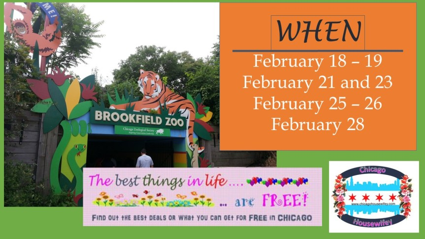 FREE Admission to the Brookfield Zoo in February 2017