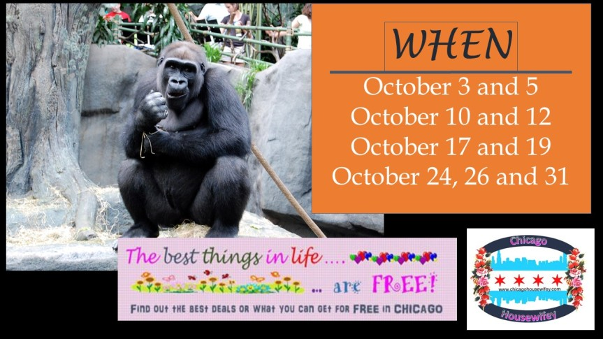 FREE Admission to the Brookfield Zoo in October 2017
